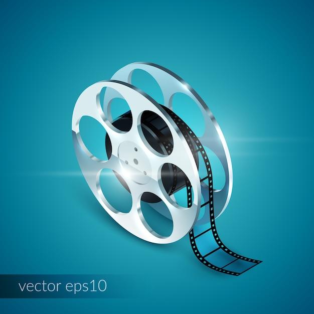 Film reel realistic Vetor grátis