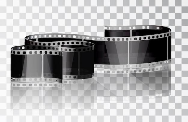 Filme em pacote transparente Vetor Premium