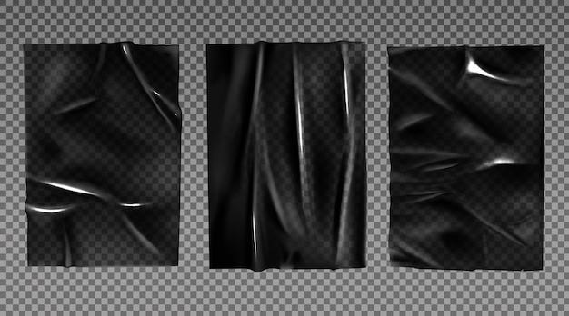 Filme estirado de plástico preto para embalagem Vetor grátis