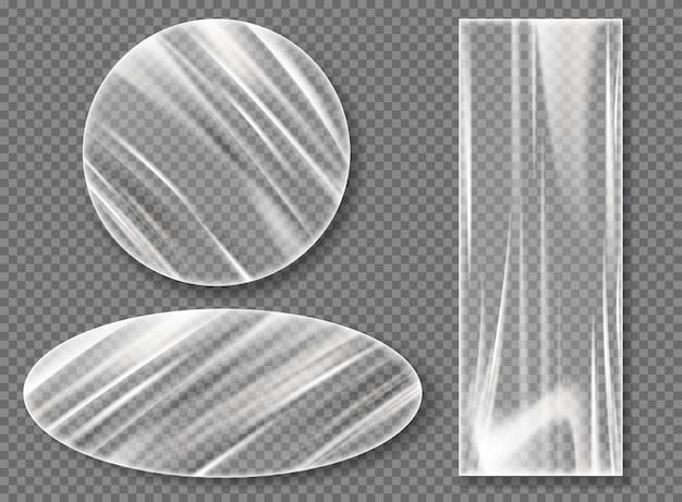 Filme estirável de plástico transparente para embalagem Vetor grátis