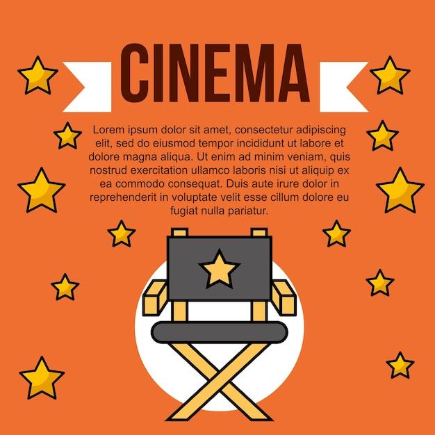Filme filme cinema Vetor Premium