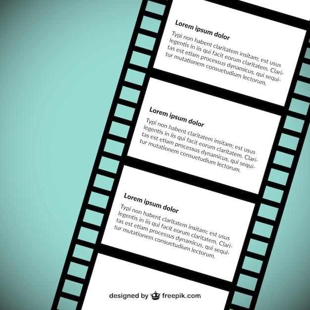 Filme template tira vector Vetor grátis