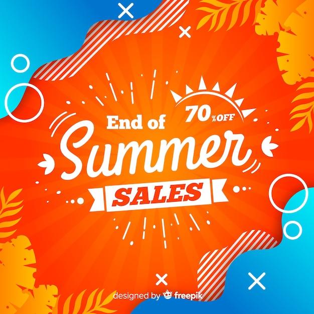 Fim do fundo de vendas de verão Vetor grátis
