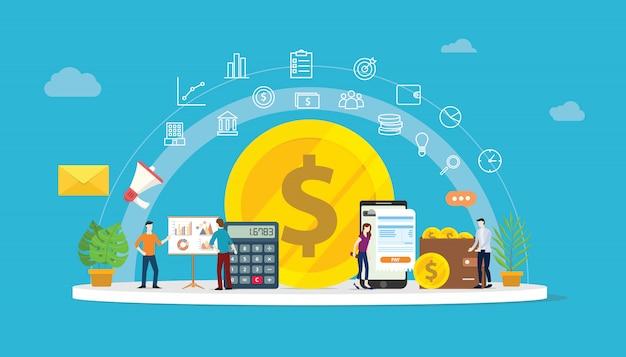 Finanças de dinheiro de crescimento Vetor Premium