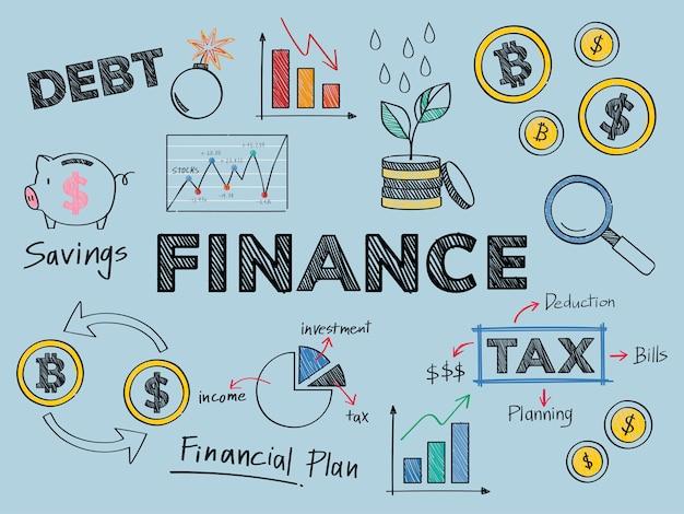 Finanças e ilustração de conceito de desempenho financeiro Vetor grátis