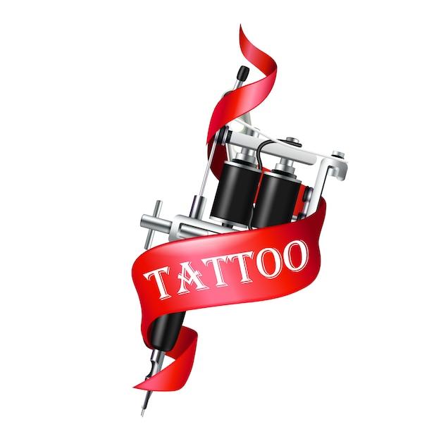 Fita da máquina do tatuagem Vetor grátis