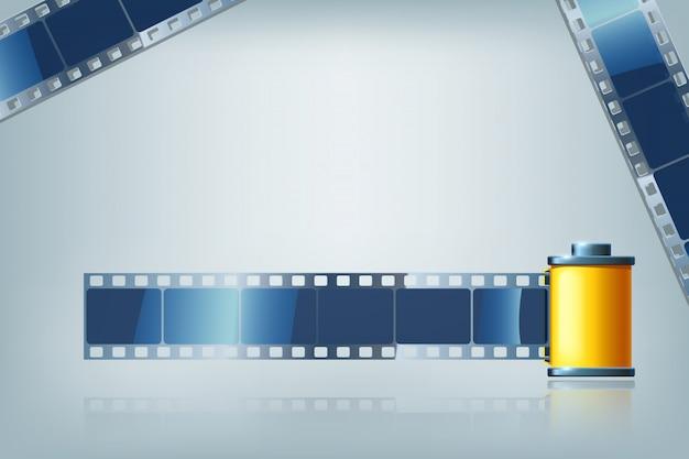 Fita de cinema Vetor Premium