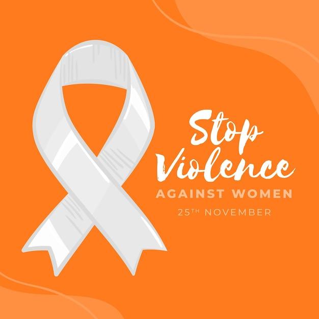 Fita de conscientização para acabar com a violência contra as mulheres Vetor grátis