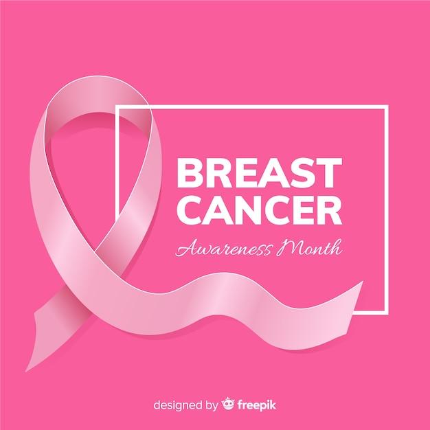 Fita de estilo realista para evento de conscientização de câncer de mama Vetor grátis