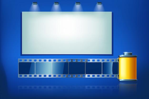 Fita de filme Vetor Premium