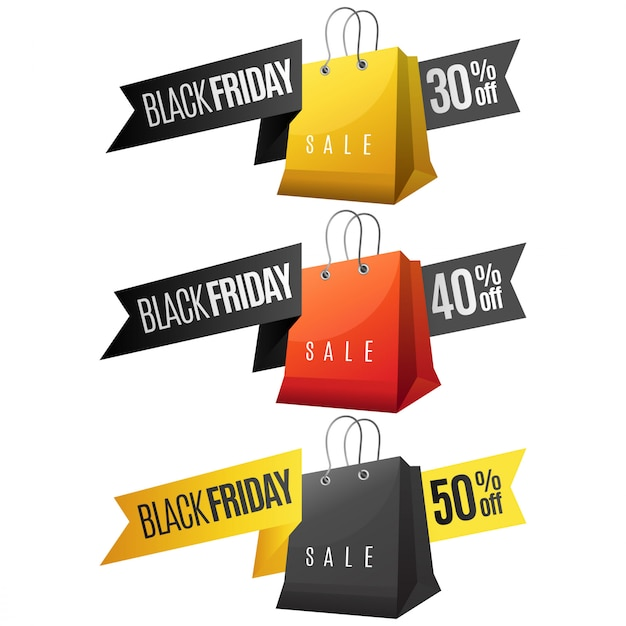Fita de venda sexta-feira negra Vetor Premium