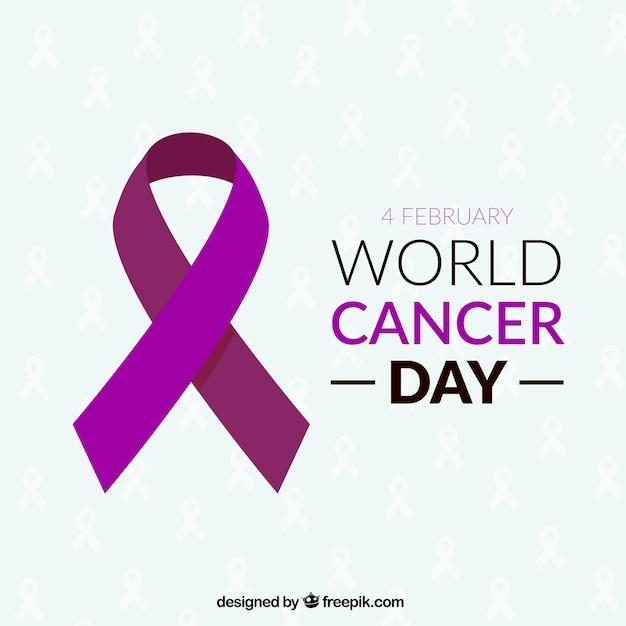 Fita para o dia mundial do câncer Vetor grátis