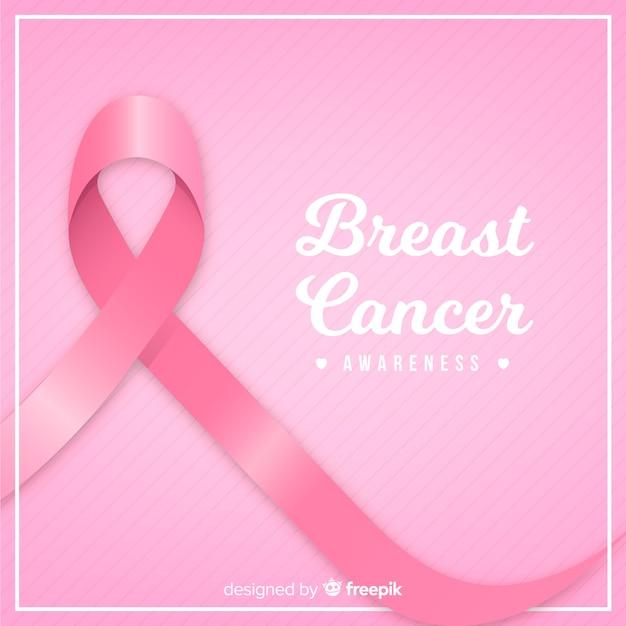 Fita rosa para conscientização do câncer de mama Vetor grátis