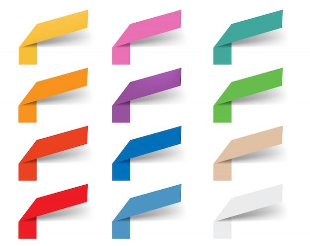 Fitas da web para modelos de design de infográficos Vetor Premium