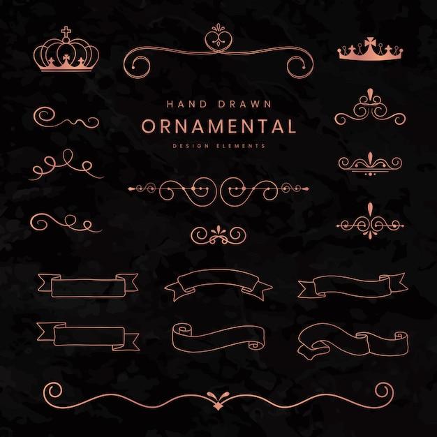 Fitas e divisórias ornamentais Vetor grátis