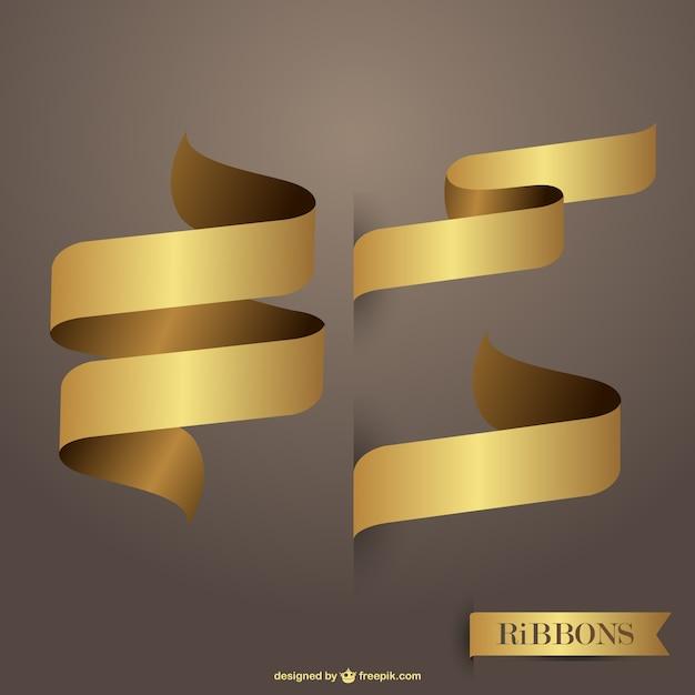 Fitas vetores livres de ouro Vetor grátis