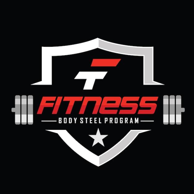 Fitness e musculação logo design inspiração vector Vetor Premium