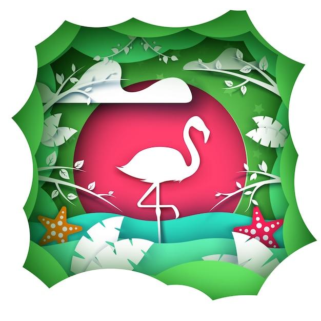 Flamingo Vetor Premium