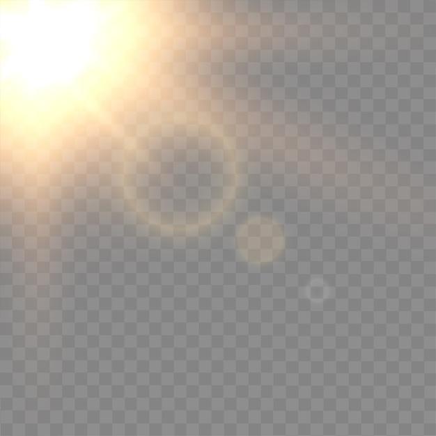 Flash brilhante em background transparente Vetor Premium