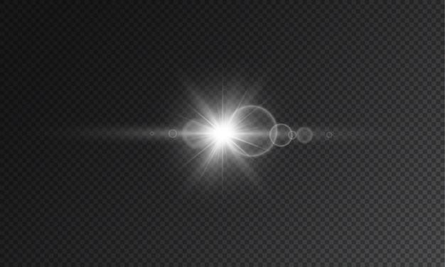 Flash estrela transparente Vetor Premium