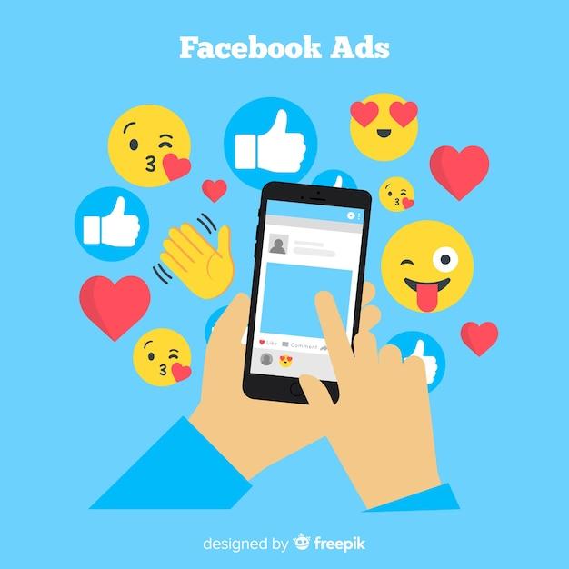 Flat celular com emojis Vetor grátis