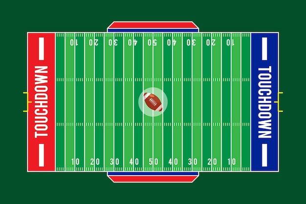 Flat design campo de futebol americano Vetor grátis