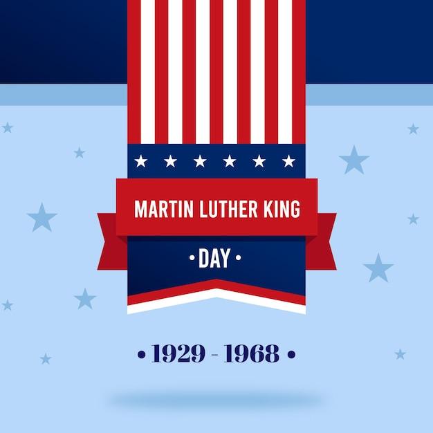 Flat design dia de martin luther king Vetor Premium