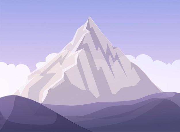 Flat mountain business metáfora dos desenhos animados Vetor Premium
