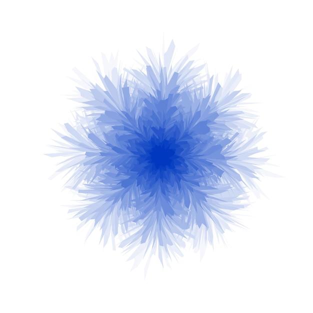 Floco de neve azul fofo em fundo branco Vetor Premium
