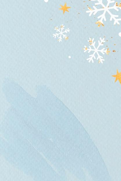 Flocos de neve brancos em fundo azul claro Vetor grátis
