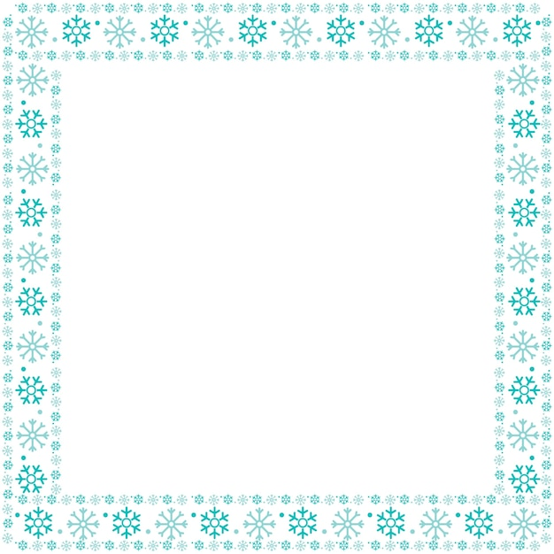 Flocos de neve de moldura de natal Vetor grátis