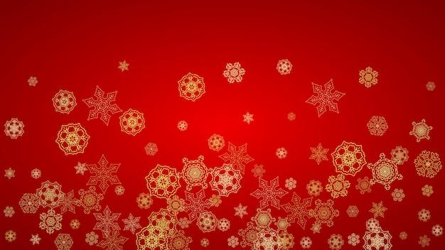 Flocos de neve de natal e ano novo Vetor Premium