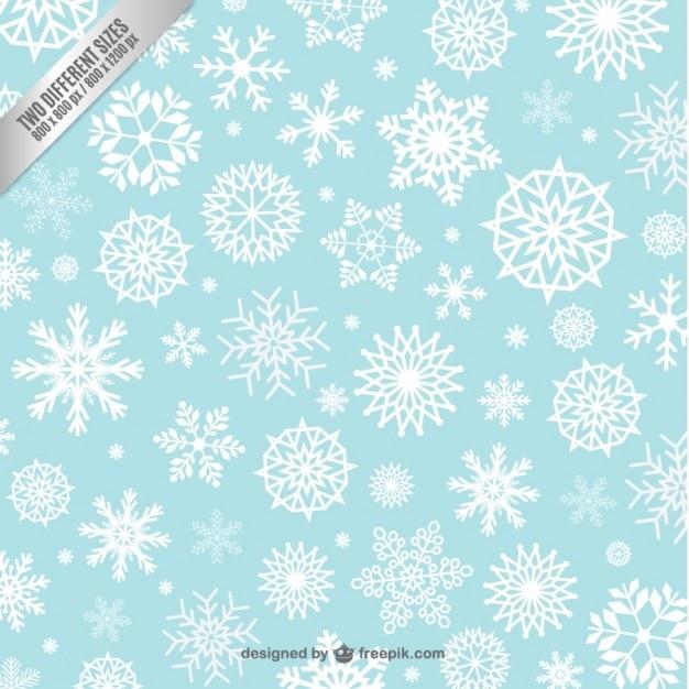 Flocos de neve padrão de fundo Vetor grátis