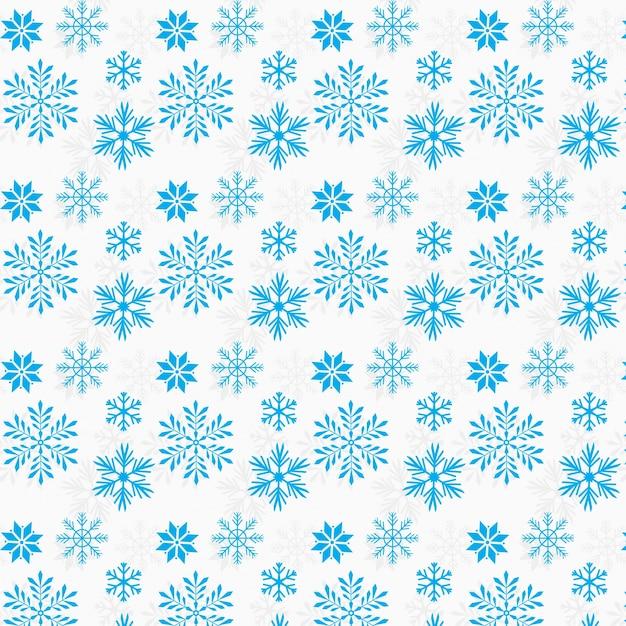 Flocos de neve padrão desgin background Vetor grátis
