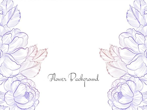 Flor colorida desenhada à mão Vetor grátis