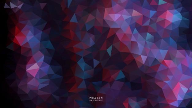 Flor de iluminação escura de polígono Vetor Premium