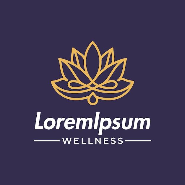 Flor de lótus com gota de água ou óleo Vetor Premium