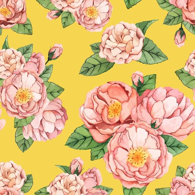 Flor de peônia desenhada mão isolada Vetor grátis