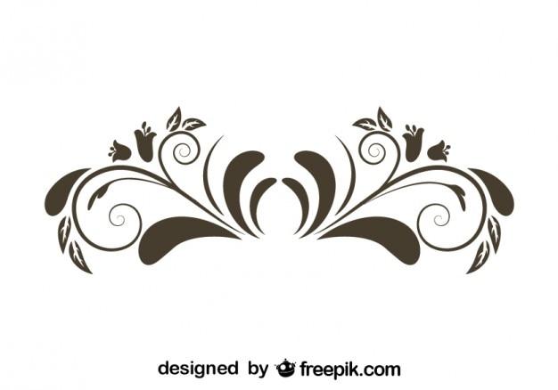 Flor design gr fico estilo elemento retro baixar vetores for Design architettonico gratuito