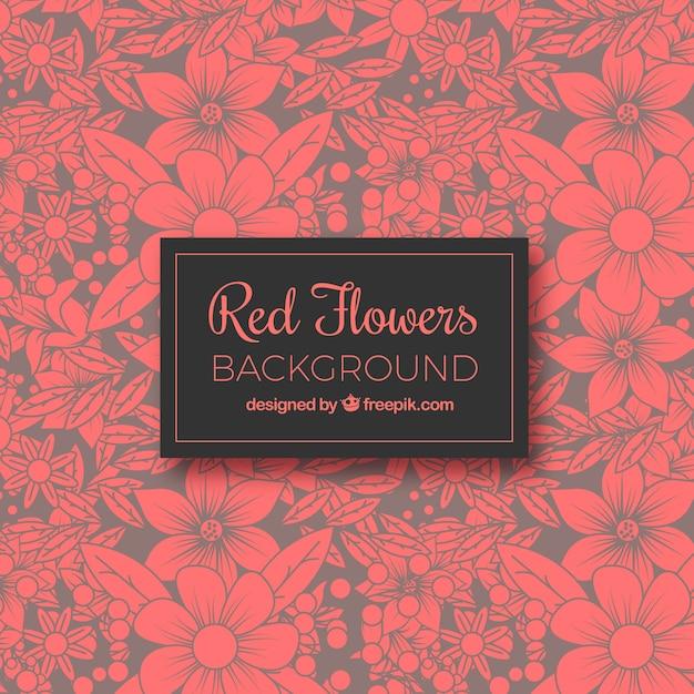 Flor vermelha Vetor grátis