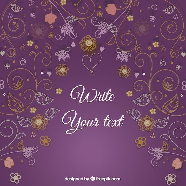 Floral decorativo cartão gráfico vetorial Vetor grátis