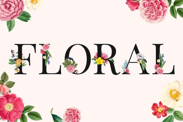 Floral, fundo, ilustração Vetor grátis