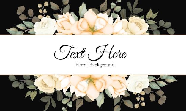 Floral moderno com bela decoração de flores Vetor Premium