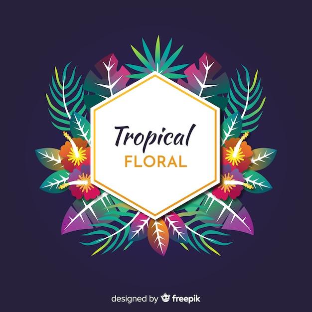 Floral tropical Vetor grátis