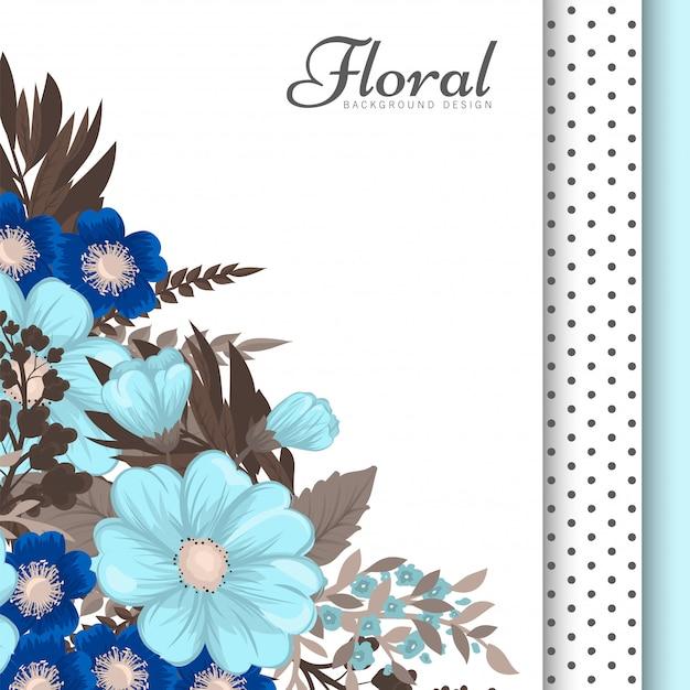 Flores azuis claras Vetor grátis