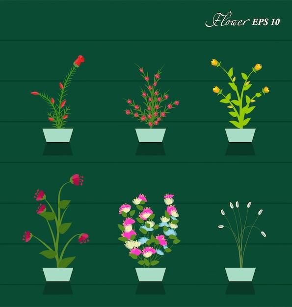 Flores da primavera Vetor Premium
