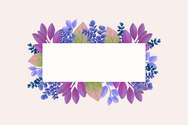 Flores de inverno com banner de espaço de cópia Vetor grátis