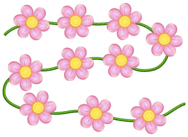 Flores de videira Vetor grátis