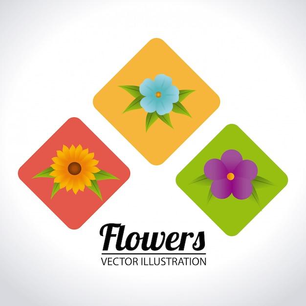 Flores, desenho, ilustração Vetor grátis