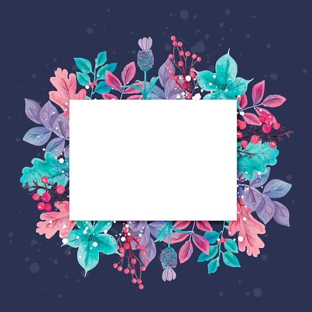 Flores do inverno com banner vazio Vetor grátis